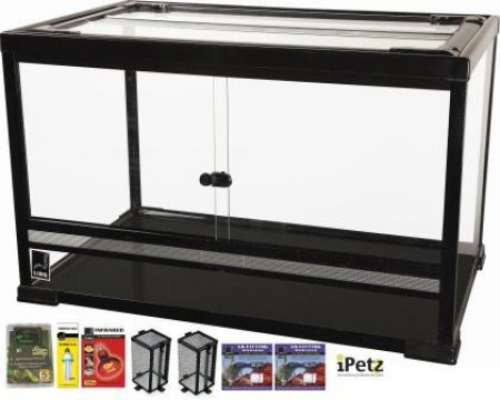 URS Large Terrarium with Heat & Light Package