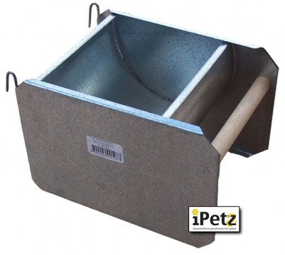 Hanging Poultry Trough with Perch 6inch (30cm)